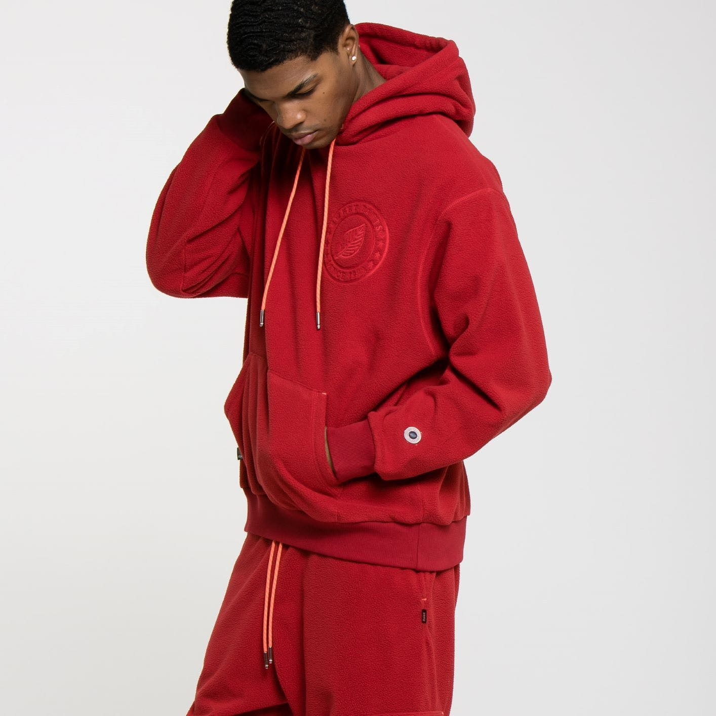 POLAIRE HOODIE RED H 8