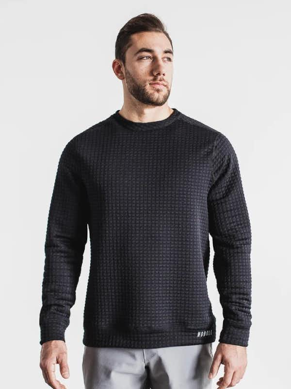 Nobull Mens Quilted Crew Pullover