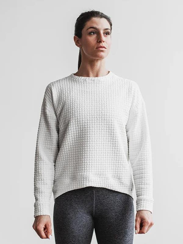 Nobull Womens Quilted Crew Pullover