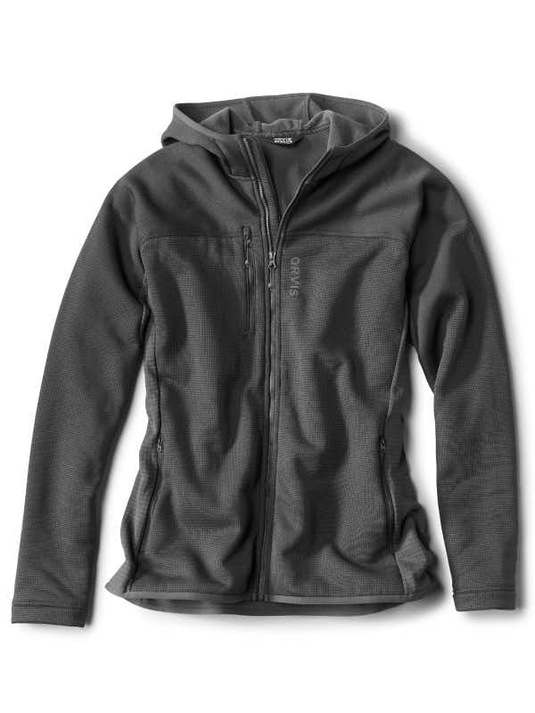 Orvis Mens Full Zip Fleece Hoodie
